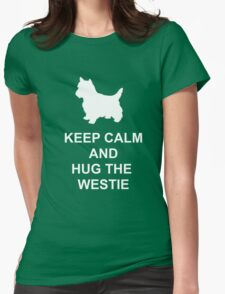 Keep Calm Westie Hoodie Womens Fitted T-Shirt