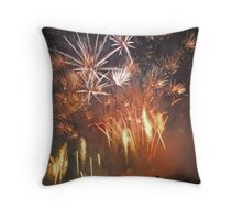 fiery barrage Throw Pillow