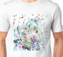 WATERCOLOR PIT BULL Unisex T-Shirt