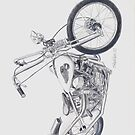Knucklehead motorcycle drawing by kathysgallery