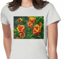 Fiery Tulips in Summertime Edmonton  Womens Fitted T-Shirt