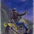 Pastel motorcycle painting by kathysgallery