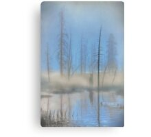 Tree Skeletons at Dawn.  Yellowstone National Park. Wyoming. USA. Canvas Print