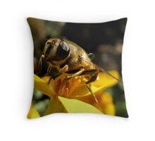 Honey Maker Throw Pillow