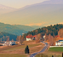 Country road in amazing panorama | landscape photography Sticker