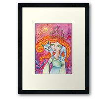 The Cat Woman Framed Print