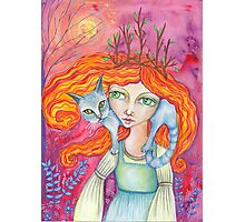 The Cat Woman Photographic Print
