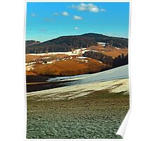 Scenic view below the Bohemian Forest | landscape photography Poster
