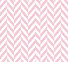 Girly pink white pastel vintage chevron pattern by Maria Fernandes