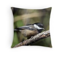 Black-Capped Chickadee (2010 Calendar Oct) Throw Pillow