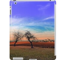 Trees, sunset, clouds, panorama and village | landscape photography iPad Case/Skin