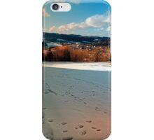 Winter wonderland and village skyline | landscape photography iPhone Case/Skin