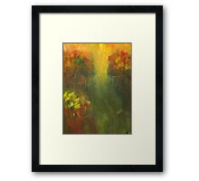 Dreams of Meadows: Abstract Landsacpe Framed Print
