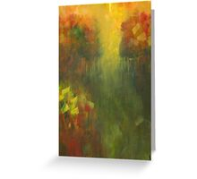 Dreams of Meadows: Abstract Landsacpe Greeting Card