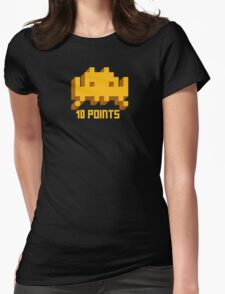10 Points: Space Invaders Womens Fitted T-Shirt
