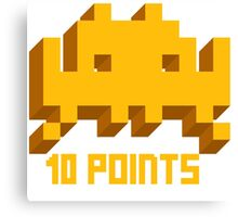 10 Points: Space Invaders Canvas Print