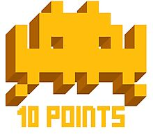 10 Points: Space Invaders Photographic Print