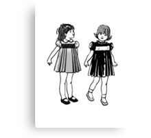 RETRO GIRLS CUTE Canvas Print