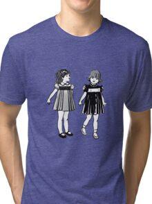 RETRO GIRLS CUTE Tri-blend T-Shirt