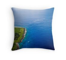 Just Above the Blue and Green Throw Pillow