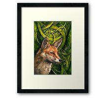 Bold Undaunted Fox Framed Print