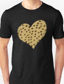 Heart Cheetah Print Long Sleeve Shirt T-Shirt