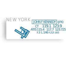 Aviation Sectional Chart New York JFK Airport Canvas Print
