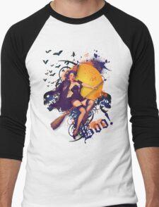 The Kitsch Bitsch : Halloween Kitsch Witsch Pin-Up Men's Baseball ¾ T-Shirt