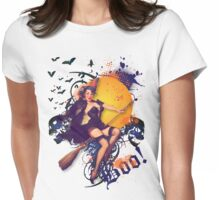 The Kitsch Bitsch : Halloween Kitsch Witsch Pin-Up Womens Fitted T-Shirt