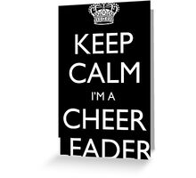 Keep Calm I'm A Cheer Leader - Custom Tshirt Greeting Card
