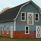 ...little blue barn... by Lynne Prestebak