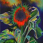 Orange Sunflower by Barbara Smith