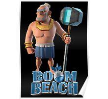 Warrior BOOM BEACH Poster