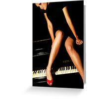 piano lesson Greeting Card