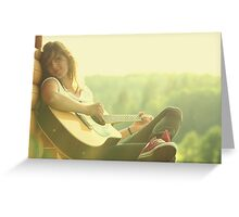 moment of the sound Greeting Card