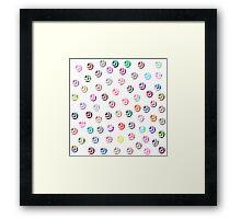 Girly pink patterns modern polka dots pattern Framed Print