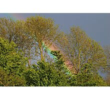 Rainbow in Somerset, United Kingdom Photographic Print