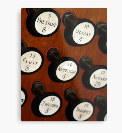 Organ Buttons Metal Print