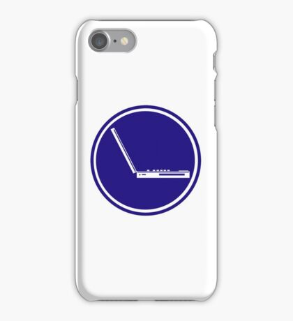 LAPTOP ICON PARKING ROAD SIGN iPhone Case/Skin