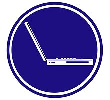 LAPTOP ICON PARKING ROAD SIGN by SofiaYoushi
