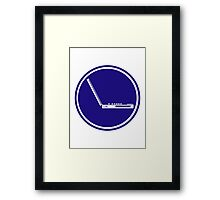LAPTOP ICON PARKING ROAD SIGN Framed Print