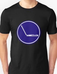 LAPTOP ICON PARKING ROAD SIGN Unisex T-Shirt