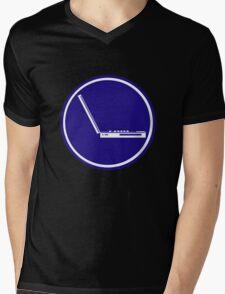 LAPTOP ICON PARKING ROAD SIGN Mens V-Neck T-Shirt