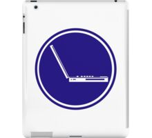 LAPTOP ICON PARKING ROAD SIGN iPad Case/Skin