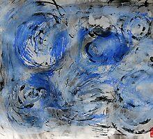 swirling blue by Jeremy Wallace