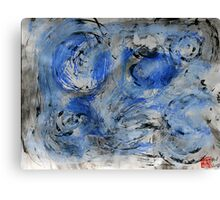 swirling blue Canvas Print