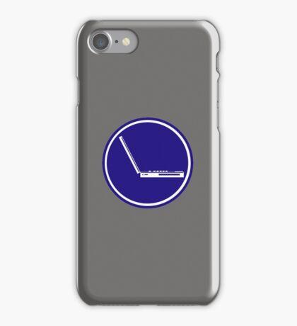 LAPTOP PARKING ROAD SIGN iPhone Case/Skin