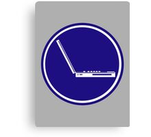 LAPTOP PARKING ROAD SIGN Canvas Print