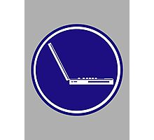 LAPTOP PARKING ROAD SIGN Photographic Print
