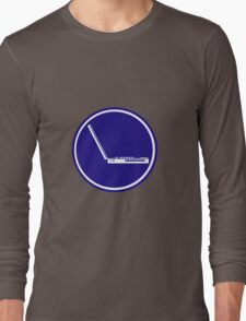LAPTOP PARKING ROAD SIGN Long Sleeve T-Shirt